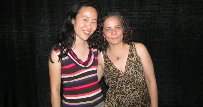 Helen Sung (Jazz Pianist) and me at the 2008 Clifford Brown Jazz Festival