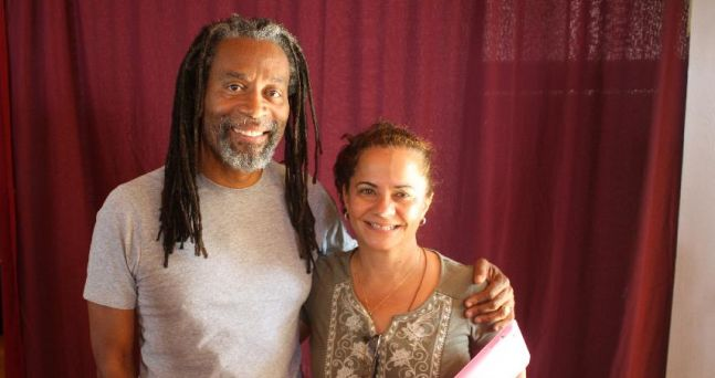 With singer and master teacher; Bobby McFerrin at Omega Institute 2012 Circle Songs workshop in Rhinebeck, NY