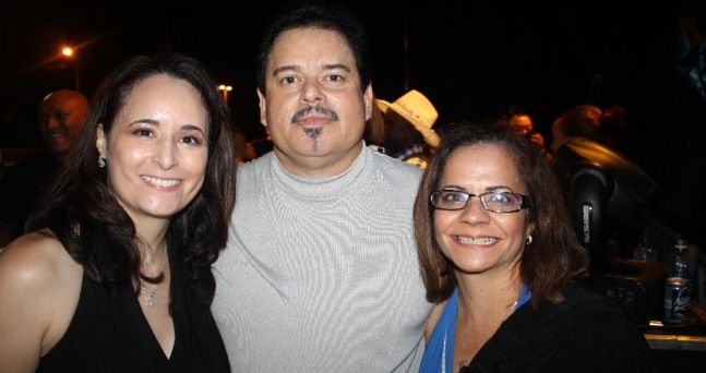 Karen Rodriguez - singer, Lalo Rodriguez - singer and me at the 2010 Wilmington, Delaware Hispanic Fest