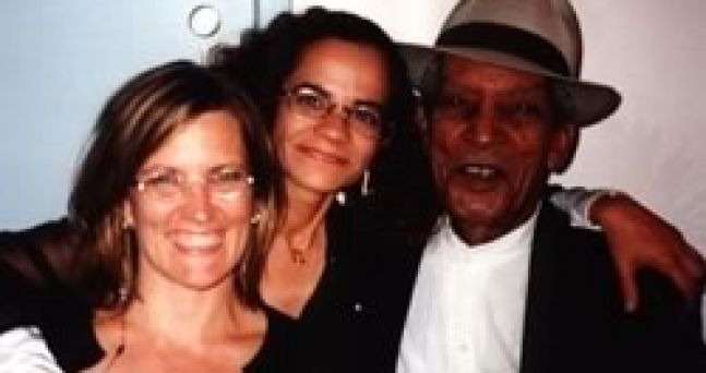 Donna Bostock, Myself and the greatest Compay Segundo at the Mann Music Center