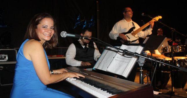 Karen Rodriguez Latin Jazz Ensemble, with Dennis Guevarra - Keyboards, Juan Medina - bass, Juan Castellanos - timbales