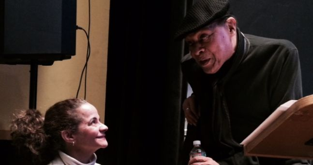 Learning from the greatest Al Jarreau during our vocal department residency at the Clef Club